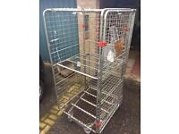 Warehouse parts cage trolley