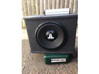 """Jl audio 12"""" sub and amp"""