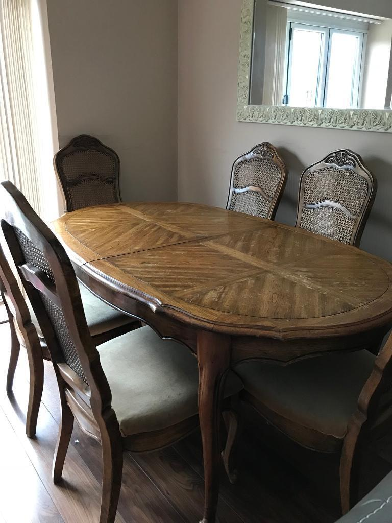Harrods Extending Dining Room Table 6 Chairs