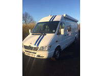 Mercedes sprinter 313 motorhome Designed for motorbikes 2005 SUMMER TIME IS ALMOST IN BLOOM!!!