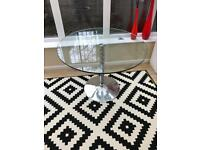 Round Glass Dining Table 100cm