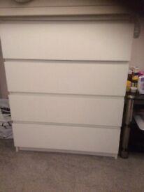 White Ikea drawers