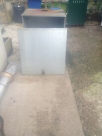 Oil burner boiler metal box cover