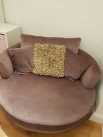 Next Sofa - swivel seat - snuggle seat lilac
