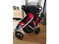 ## PHIL & TEDS VIBE DOUBLE BUGGY / PRAM / STROLLER - WITH EXTRAS! ##