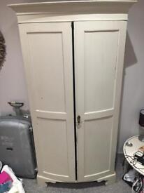 Free standing painted wardrobe