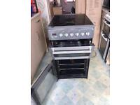 Hotpoint Graphite Electric 4 Hob Fan Assisted Cooker