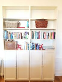Ikea - Billy bookcases with combination doors, adjustable shelves and height extension