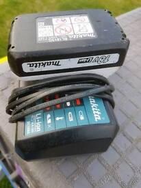 Makita 18v battery and charger