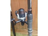 Float rod reel and tackle
