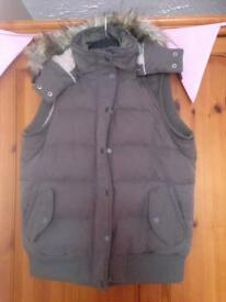 Fat face khaki green gilet/body warmer