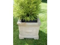 4 TRADITIONAL QUALITY STONE PLANTERS