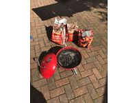 Small Red Portable Barbecue Charcoal Grill BBQ