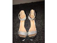 Ladies Roland Cartier Silver Sandals