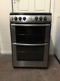 Belling dual fuel gas cooker 60cm stainless steel double oven 3 months warranty free local delivery!