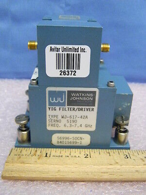 Watkins-johnson Wj-617-42a Yig Filter Driver 6.3-7.4ghz 5895-01-077-4540