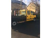 Vauxhall movano crew cab 7 seater tipper