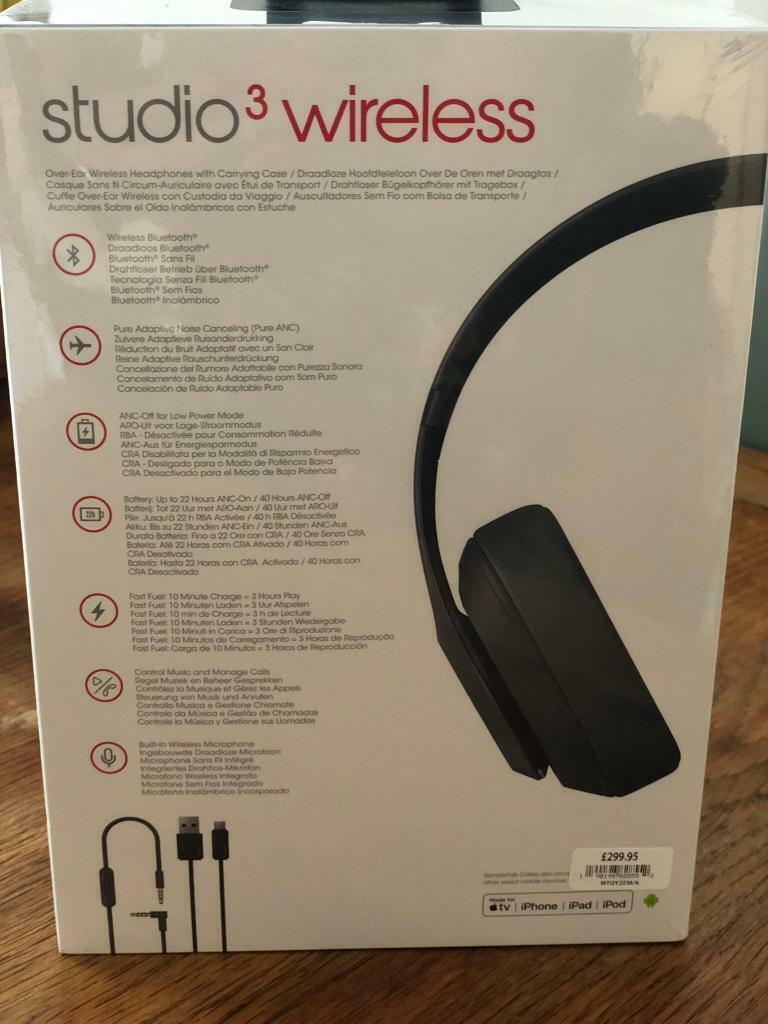 BNIB beats studio 3 wireless headphones | in Hove, East Sussex | Gumtree