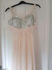 Beautiful brand new peach prom dress
