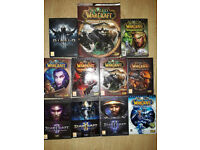 A Job Lot / Bundle of World of WarCraft and StarCraft (10 Games ) Plus a Book All in Good Condition