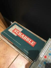 Vintage scrabble board game Christmas fun!