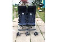 Maclaren twin rally double pram