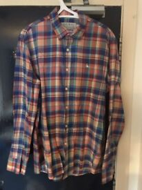 Men's Authentic Jack Wills Medium Size Checked Shirt Multi-Colour