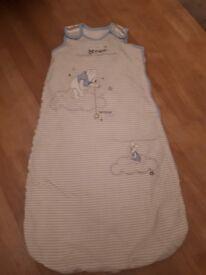 2 Baby boys sleeping bags 0-6 mths