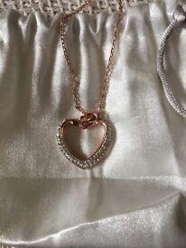 Rose Gold and Swarovski Necklace