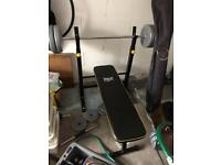 Everlast weight bench with bars and 160 kg