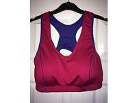 "BNWOB Ladies Crane Sportsbra pink & purple size 16-18 (37""-40"" bust)"