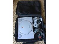 Sony PlayStation PSOne Video Games Console Controller Case Leads Vintage Gaming
