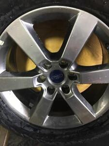 "CALGARY) TRAX 0000 . FORD 2017 20"" TAKE OFF RIMS AND    TIRES HANKOOK 275/55R20  $1500  set"