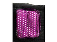 Purple polka dot laptop bag