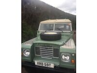 Restored Landrover series 3, restored to a very high soec