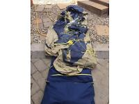 Outboard 6 or 8 man tent. Used for a fortnight. £50. No offers.