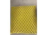 Large mustard cable cushions