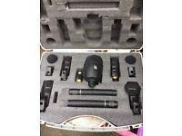 GATT 7 piece pro microphone set with carry case