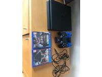 Play Station 4 Slim 500GB, COD Games and two controllers