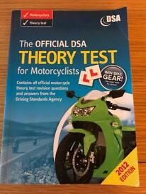 DSA Theory Test for Motorcyclists Book
