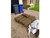 22 rolls of turf
