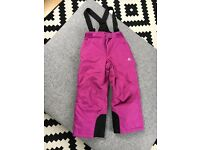 Girls Date2Be pink ski trousers age7-8