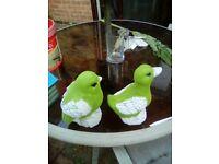 2 x small garden ornaments