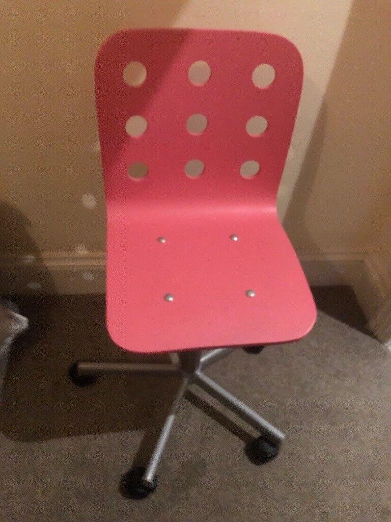 Cool Ikea Jules Pink Desk Chair Child In West Bridgford Nottinghamshire Gumtree Theyellowbook Wood Chair Design Ideas Theyellowbookinfo