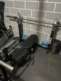 Powertec heavy duty bench press and squat stands