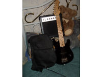 KIDS ELECTRIC GUITAR ..and amp