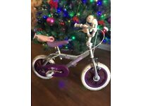 Girls 11 inch wheel bike