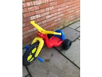 Children's big wheel peddle bike