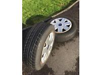"13"" wheel & tyre X2"