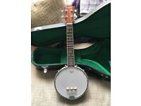 Brand New High quality 4 String Banjo Ukulele + Case. Never Played, Perfect Condition - £90